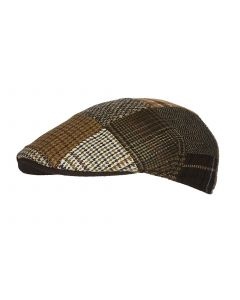 LORENZO PATCHWORK CAP, BROWN