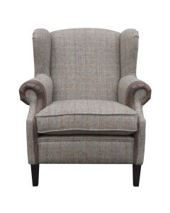 JOHN BARDALE BOSS CHAIR HARRIS TWEED, DIVERS