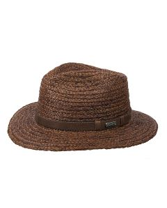 OBAMA RAFFIA HAT, BROWN