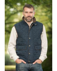 QUILTED WAISTCOAT YORK, NAVY