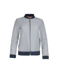 JACKET BAMBURGH STRIPE, OFFWHITE