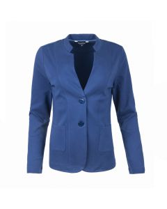 LADIES BLAZER COLLAR , NAVY