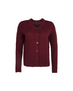 CARDIGAN CREW NECK, RED