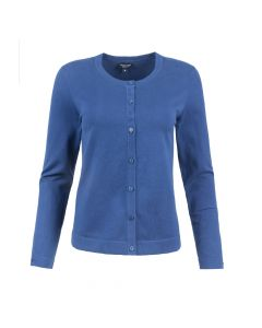 LADIES CARDI CREW NECK, NAVY