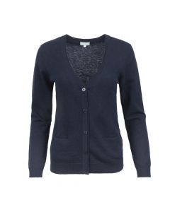 CARDIGAN V-NECK, NAVY