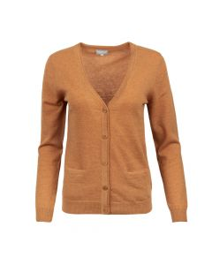 CARDIGAN V-NECK, RUST