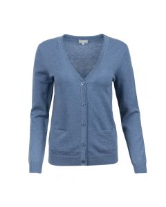 CARDIGAN V-NECK, BLUE