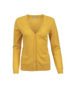 CARDIGAN V-NECK, GOLD