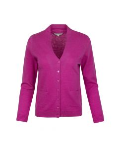 CARDIGAN V-NECK, RICH ROSE