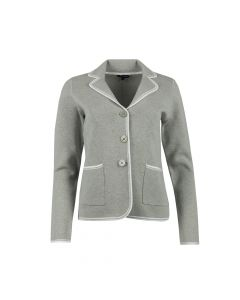 BLAZER CONTRAST BINDING , LIGHT GREY