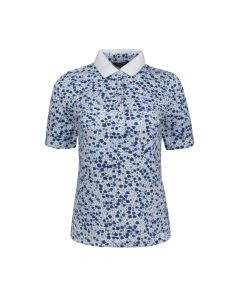 LADIES POLO PETIT FLOWER, BABY BLUE