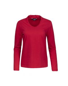 SHIRT STAND UP COLLAR, RED