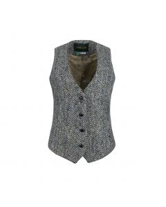 GILET HERRINGBONE , BLACK/WHITE