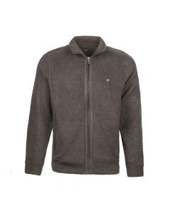 CARDIGAN ZIP, BROWN