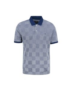 MENS POLO CHECK, NAVY