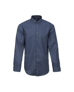 SHIRT PRINTED FLANNEL, NAVY