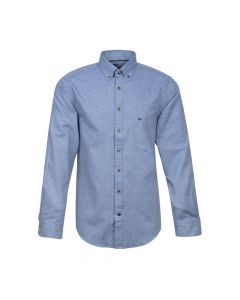 SHIRT SOLID FLANNEL, BLUE