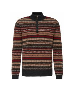 SWEATER TROYER JAQUARD, CHARCOAL