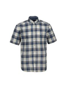 SHIRT SHORT CHECK, NAVY