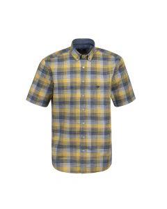 SHIRT SHORT CHECK, YELLOW