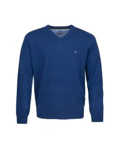 SWEATER V- NECK , NAVY