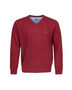 SWEATER V- NECK , RED