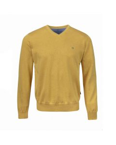 SWEATER V-NECK , OCRE