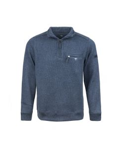 SWEATER TROYER MOULINEE, NAVY