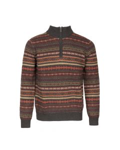SWEATER TROYER ZIP JAQ, TERRACOTTA