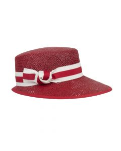 HAT WITH BOW, RED