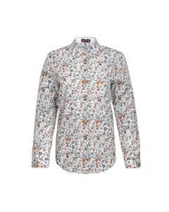 LADIES SHIRT FLOWER , RUST