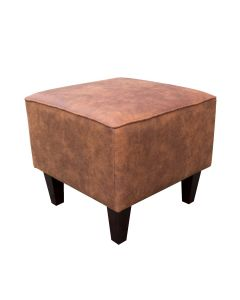 FOOTSTOOL PRESTON 24, BROWN