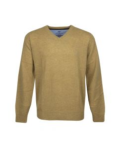 SWEATER V- NECK , MUSTARD