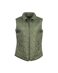 QUILTED GILET DIAMOND, OLIVE