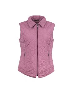 QUILTED GILET DIAMOND, PINK