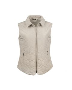 QUILTED GILET DIAMOND, BEIGE