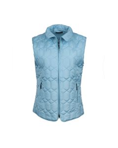 QUILTED GILET DIAMOND, SKY