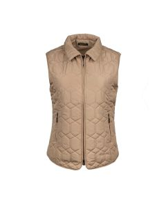 QUILTED GILET DIAMOND, GOLD