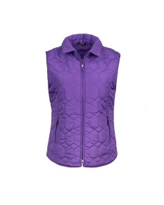 QUILTED GILET DIAMOND, PURPLE