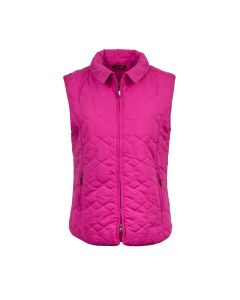 QUILTED GILET DIAMOND, RICH ROSE