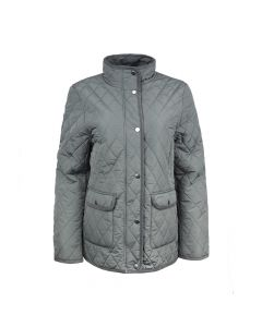 QUILTED JACKET, CHARCOAL