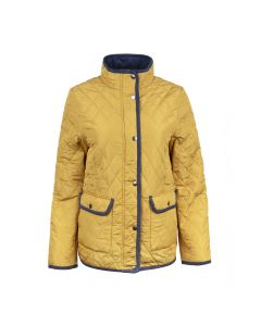 QUILTED JACKET, MUSTARD