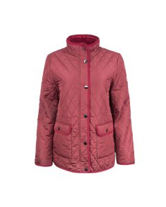 QUILTED JACKET, BURGUNDY