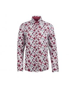 SHIRT FLOWER BURGUNDY, BURGUNDY