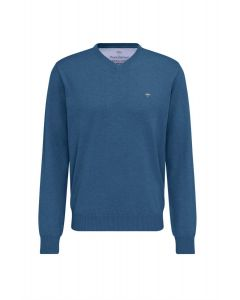SWEATER V- NECK , AZURE BLUE