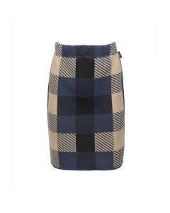 SKIRT AMIRA CHECK, NAVY