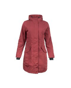 LADIES COAT TWILL, RED