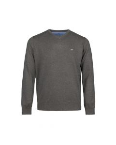 SWEATER V- NECK , TAUPE