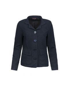 LADIES BLAZER FLOWER, NAVY