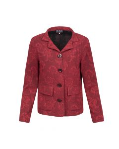 LADIES BLAZER FLOWER, RED